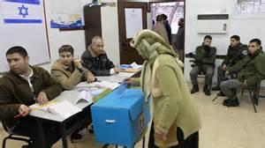 Un seggio elettorale a Tel Aviv