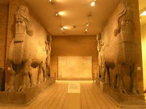 Statue nel palazzo reale di Khorsabad