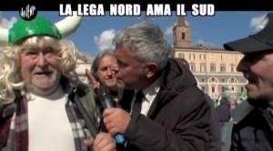 Le Iene, Enrico Lucci da Salvini: ora la Lega Nord ama il sud VIDEO