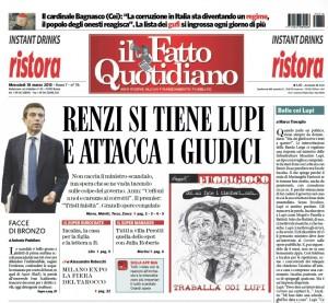 """Marco Travaglio sul Fatto Quotidiano: """"Balle coi Lupi"""""""