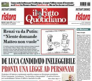 """Marco Travaglio sul Fatto Quotidiano: """"Le Marianne"""""""