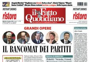 """Marco Travaglio sul Fatto Quotidiano: """"Giuliano da Enfasi"""""""
