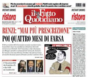 """Marco Travaglio sul Fatto Quotidiano: """"La Peggiocrazia"""""""