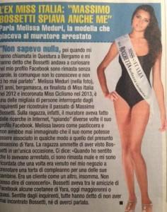 Melissa Meduri, l'articolo di Giallo