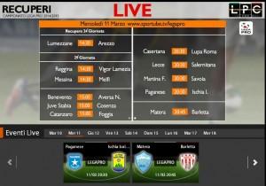 Matera-Barletta: diretta streaming Sportube, ecco come vederla