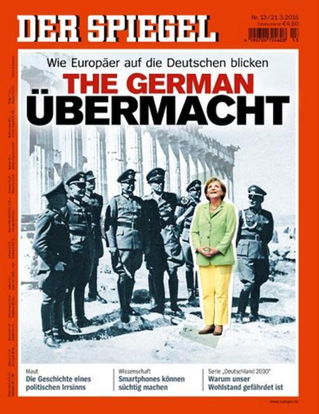"Merkel tra i nazisti al Partenone, copertina Spiegel: ""Come ci vede l'Europa"""