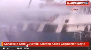 Turchia: guardia costiera spara contro barcone migranti VIDEO