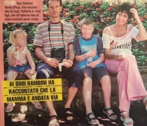 Roberta Ragusa con la famiglia, la foto di Giallo
