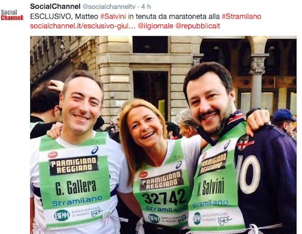 Stramilano, 50mila in corsa: c'è anche Matteo Salvini - FOTO