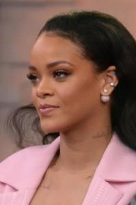 Rihanna ospite di Good morning America (foto Lapresse)