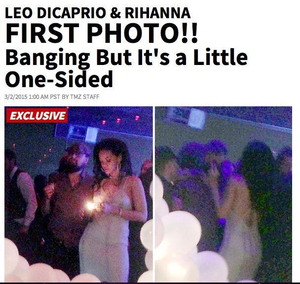 Leonardo DiCaprio insieme a Rihanna alla festa di lei: