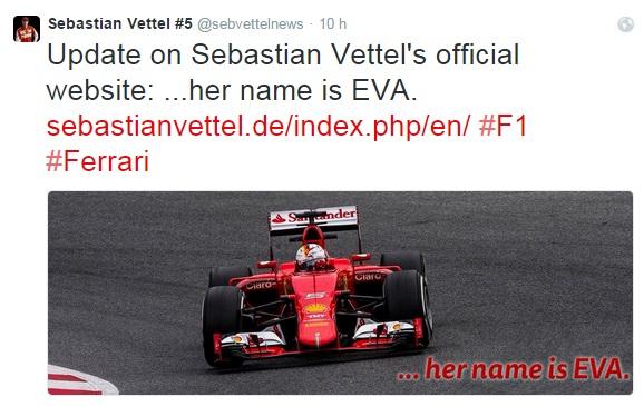 "F1: Sebastian Vettel battezza ""Eva"", la sua Ferrari"