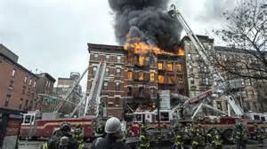 L'incendio nell' East Village