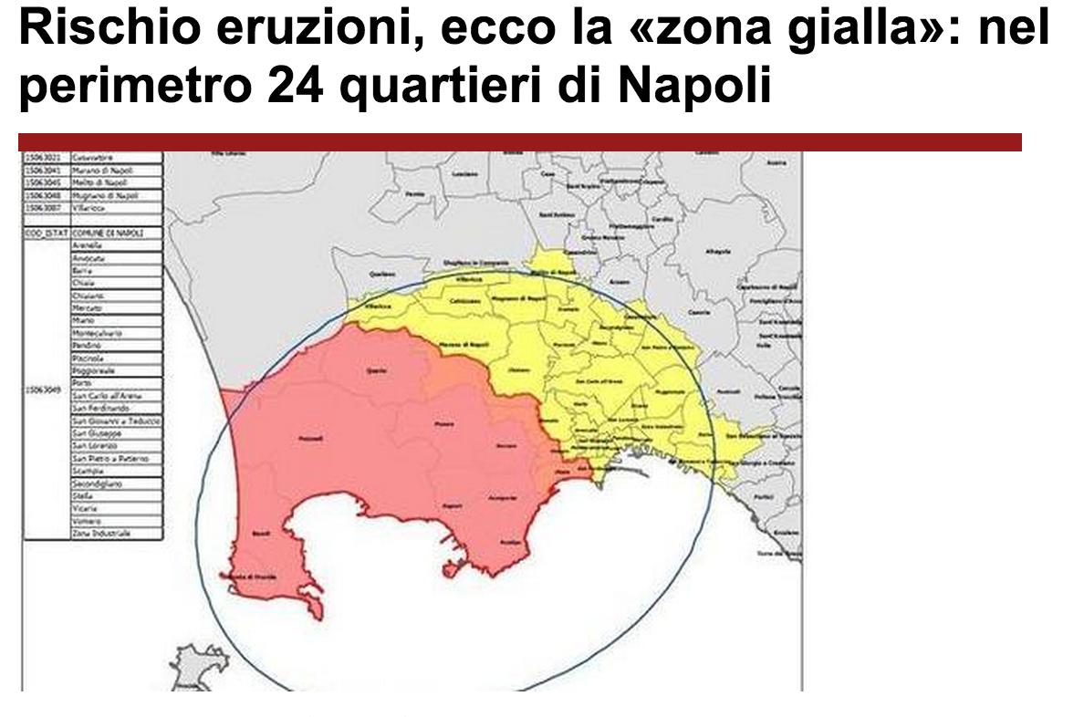 Napoli eruzione vesuvio la mappa dei quartieri a rischio for Planimetrie dei quartieri suocera