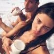 """Belen Rodriguez e Stefano de Martino FOTO della """"seconda luna di miele"""" alle Maldive"""