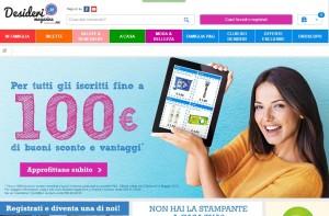 Desiderimagazine.it: un sito, un club, un portale di acquisti a prezzi scontati