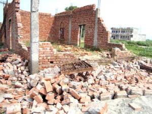 Chiesa cattolica distrutta in India