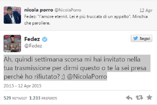 Fedez-Nicola Porro, nuova lite su Twitter FOTO