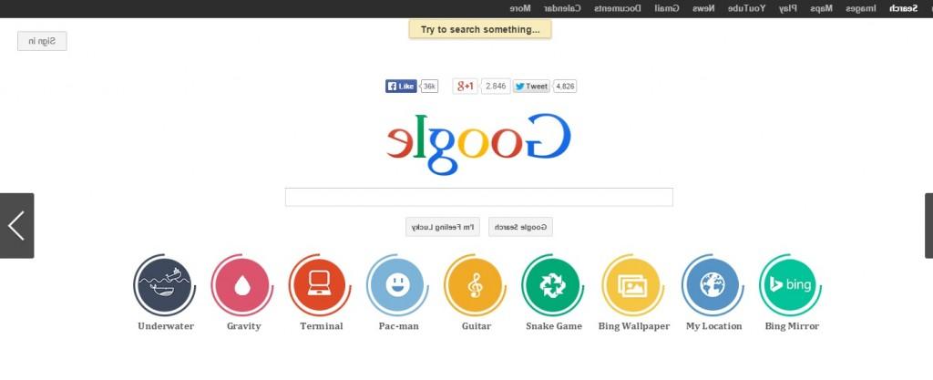An upside down version of google google backwards google reverse 21