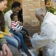 Sylvie Lubamba: papa Francesco le lava i piedi in carcere11