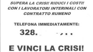 """Lavoro. Agenzia interinale offre """"contratto rumeno"""": No Tfr, no Inps, no infortuni"""