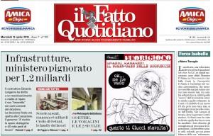 """Marco Travaglio sul Fatto Quotidiano: """"Forza Isabella"""""""