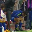 VIDEO YouTube, Alvaro Morata vomita in panchina durante Monaco-Juve 04