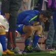 VIDEO YouTube, Alvaro Morata vomita in panchina durante Monaco-Juve 05