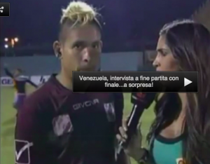 le meten una patada Aquiles Ocanto del Carabobo en el fútbol de Venezuela
