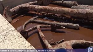 VIDEO YouTube. Ancore e cannoni antichi ritrovati a Calata Bettolo