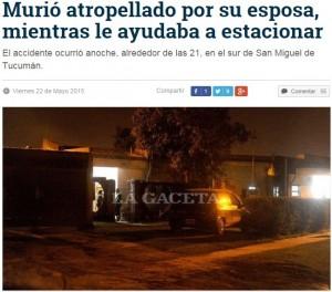Argentina, aiuta la moglie a fare manovra: lei lo investe per errore e lo uccide