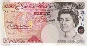 Una banconota britannica