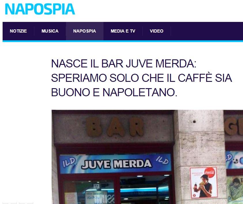 "Il bar ""Juve merda"""