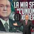"""Bruno Vespa ferma applausi a Berlusconi: """"Qui non è Che tempo che fa"""" VIDEO"""