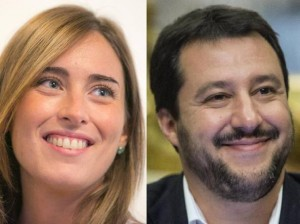 """Matteo Salvini contro Maria Elena Boschi: """"Ministra sculettante"""""""
