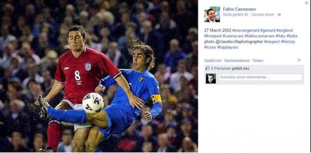 Fabio Cannavaro gaffe, confonde Gerrard con Lampard FOTO