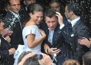 Antonio Cassano e Carolina Marcialis (foto Ansa)
