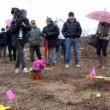 Il campo dove è stato ritrovato il cadavere di Yara Gambirasio (foto Ansa)