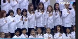 Expo 2015, coro bimbi cambia inno di Mameli VIDEO