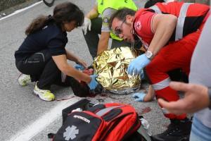 """Domenico Pozzovivo dopo caduta al Giro: """"Torno tra un mese"""""""