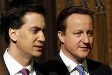 Ed Miliband e David Cameron