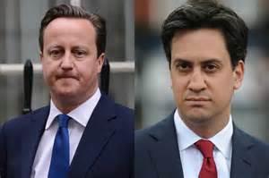 David Cameron e Ed Miliband