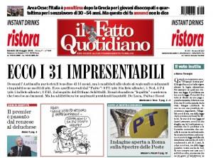 """Marco Travaglio sul Fatto Quotidiano: """"Il voto inutile"""""""