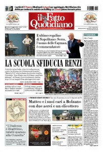 """Marco Travaglio sul Fatto Quotidiano: """"L'Incensiere"""""""