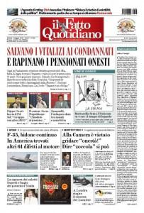 """Marco Travaglio sul Fatto Quotidiano: """"Dagli al giornalista"""""""