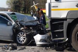 Mantova, auto contro Tir sulla Strada della calza: morto Marco Gamba