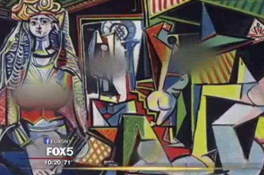 Fox censura i capezzoli del quadro di Picasso: la scelta fa ridere il web FOTO