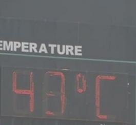 India in ginocchio per ondata di calore