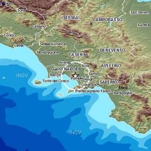 L'epicentro del terremoto (Ingv)