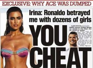 """Irina Shayk: """"Cristiano Ronaldo mi ha tradito con..."""""""